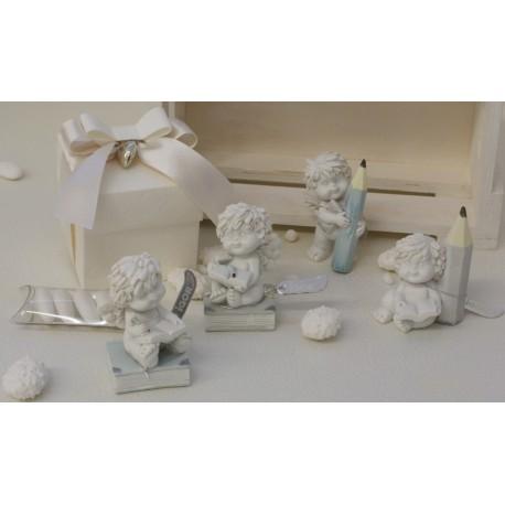 Angelo Igor scolaro 4 modelli assortiti confezionato con scatola e confetti