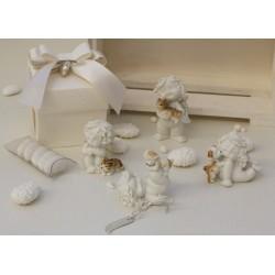 Angelo Igor con cani&gatti 4 modelli assortiti confezionato con scatola e confetti