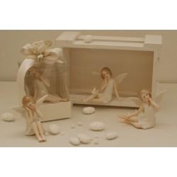 Fatine di porcellana con farfalline 4 modelli assortiti confezionate