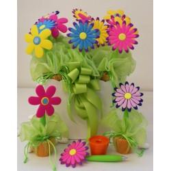 Vaso con 12 fiori penna