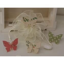 Sacchetto vuoto di organza con Farfalla molletta in 4 modelli assortiti