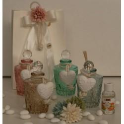 Flacone vetro profumatore 4 colori assortiti confezionato