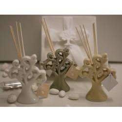 Profumatore porcellana Albero della Vita 3 colori confezionato