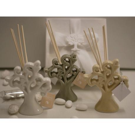 Profumatore porcellana Albero della Vita 3 colori confezionato Aelle Creazioni Bomboniere e Confetti