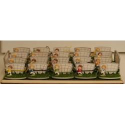 Campo da calcio con 20 calciatori confezionati