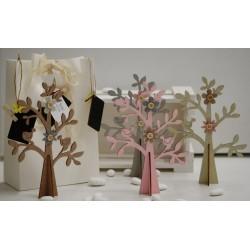 Alberi di legno colori pastello 4 colori assortiti confezionati