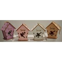 Gabbiette di legno vuote 4 colori assortiti