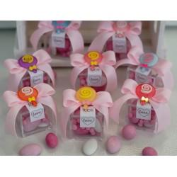 Scatolina con coloratissimi Lollipop confezionata