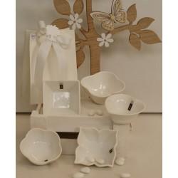 Ciotola porcellana bianca di varie forme confezionata