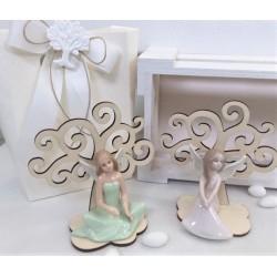 Albero della Vita con Fatina di porcellana in due modelli confezionato
