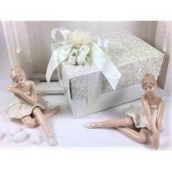 Ballerina di porcellana finissima con tutù avorio confezionata