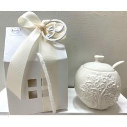 Zuccheriera di porcellana Albero della Vita confezionata