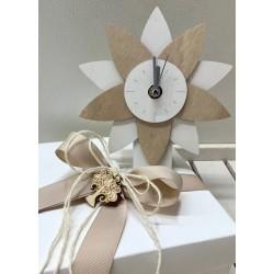 Orologio Fiore legno confezionato