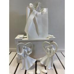 Romantici Sposini grandi con cuore 2 modelli assortiti