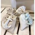 Sacchetto vuoto di tessuto in due colori assortiti con Ancora porcellana di 2 colori