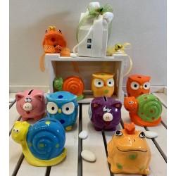 Coloratissimi Salvadanai di ceramica 10 modelli assortiti confezionati