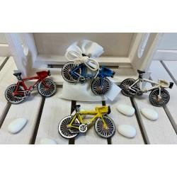 Sacchetto vuoto di tessuto di cotone con Bicicletta magnete di 4 colori assortiti