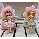 Ballerina con magnete in 2 colori assortiti confezionata con Sacchetto