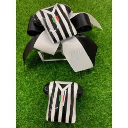 Scatolina plexi con nastro bianco/nero e Maglia calcio di vetro magnete