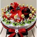 Torta confezionata con 18 pezzi Calciatori rossoneri