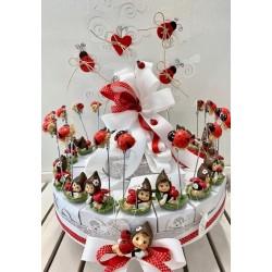 Torta Albero della Vita da 18 pezzi confezionata con Bimbi coccinella