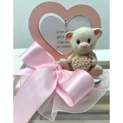 Orsetta dolce cuore Rosa confezionata