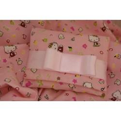 Busta Kitty rosa con legatura nastro raso