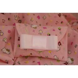 Bustina trapuntata Kitty rosa con fiocco di raso