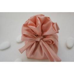 Saccottino plissettato Rosa con base rigida