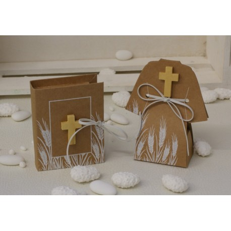 Tunica da Comunicando di carta vuota con Croce di legno e legatura similpelle