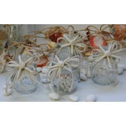 Barattoli vetro vuoti in 4 modelli vintage con stella marina