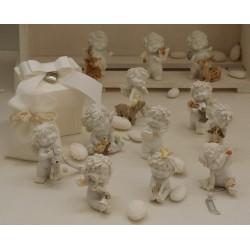 """""""Igor"""" amico degli Animali in 12 modelli assortiti confezionato con scatola, cuoricino pendente, sacchetto e confetti"""