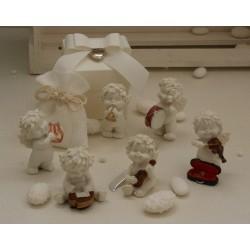 """""""Igor musicista"""" in 6 modelli assortiti confezionato con scatola, cuoricino pendente, sacchetto e confetti"""