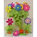 Vaso con fiori penna